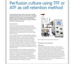 Perfusion culture using TFF or ATF as cell retention method