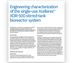 Engineering characterization of the single‑use Xcellerex XDR‑500