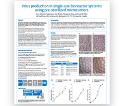 Virus production in single-use bioreactor systems using pre-sterilized microcarriers